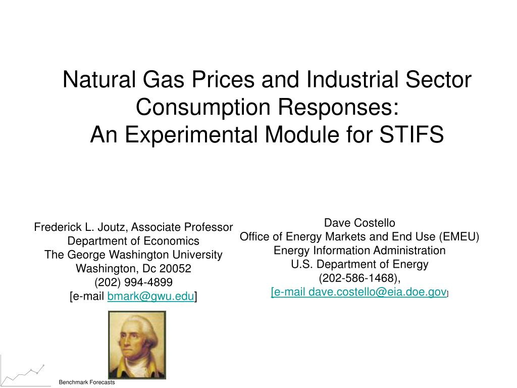 natural gas prices and industrial sector consumption responses an experimental module for stifs l.