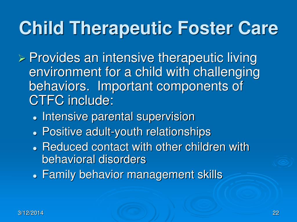Child Therapeutic Foster Care