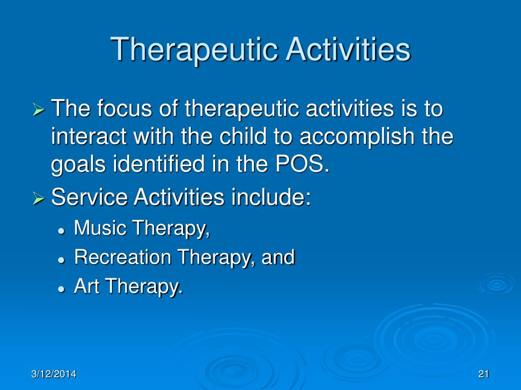 Therapeutic Activities