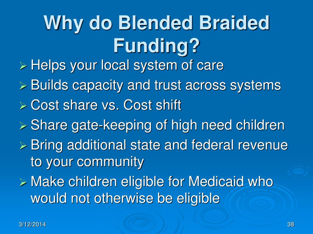 Why do Blended Braided Funding?