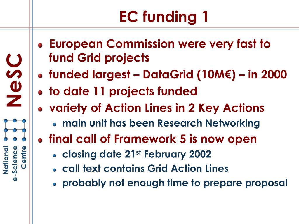 EC funding 1