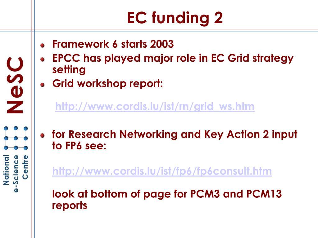 EC funding 2