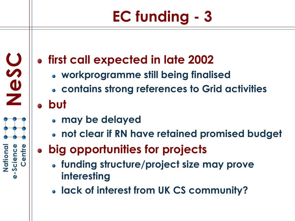 EC funding - 3
