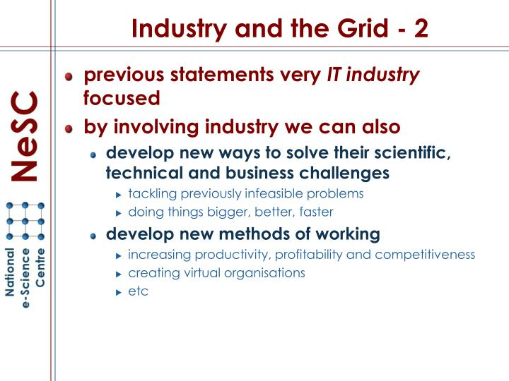 Industry and the grid 2