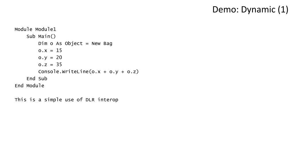 Demo: Dynamic (1)