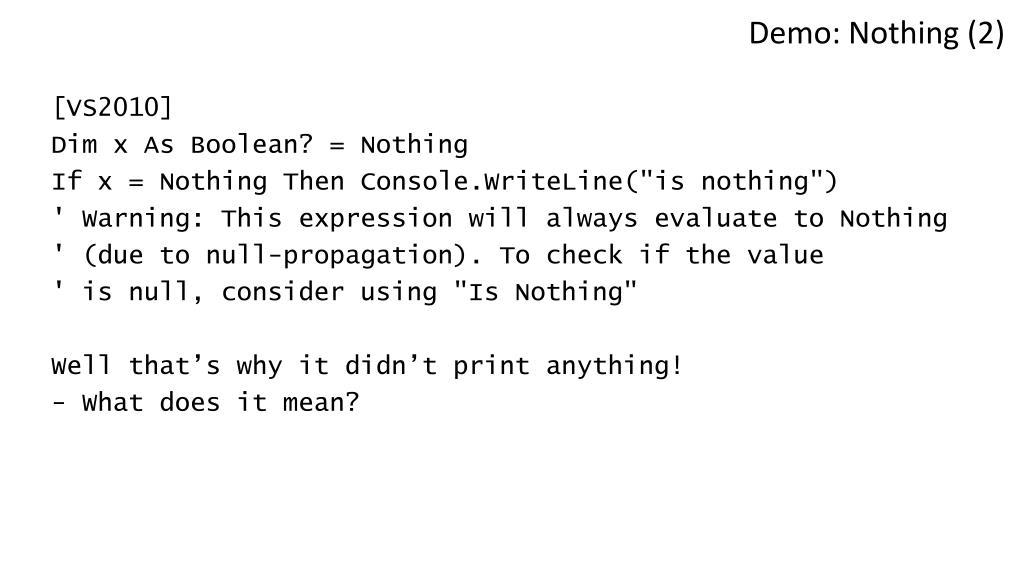 Demo: Nothing (2)