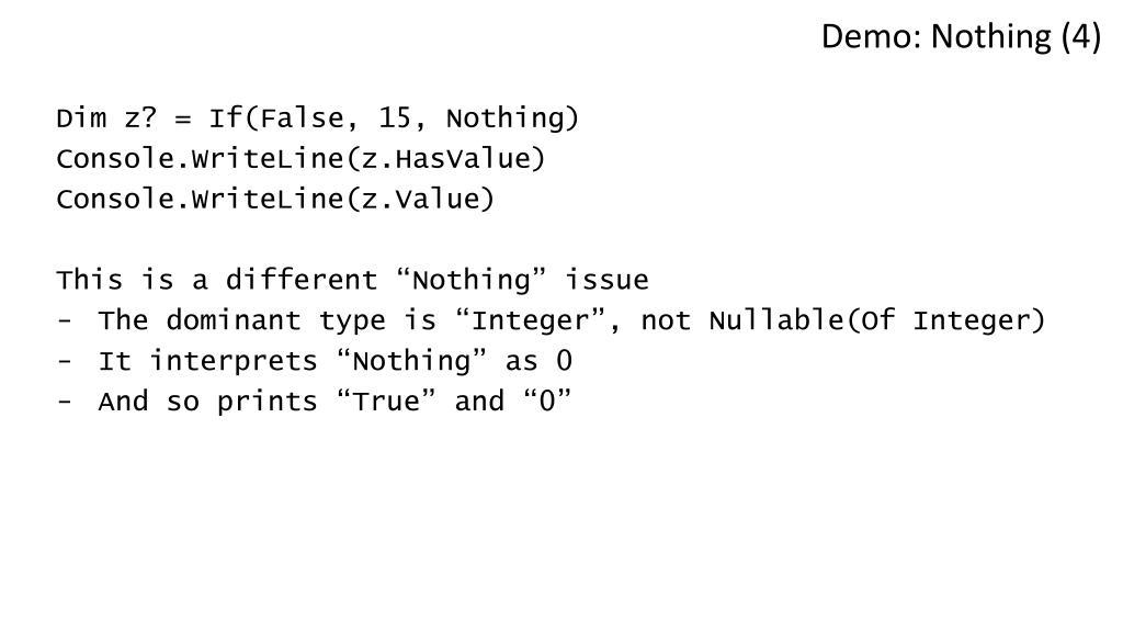 Demo: Nothing (4)