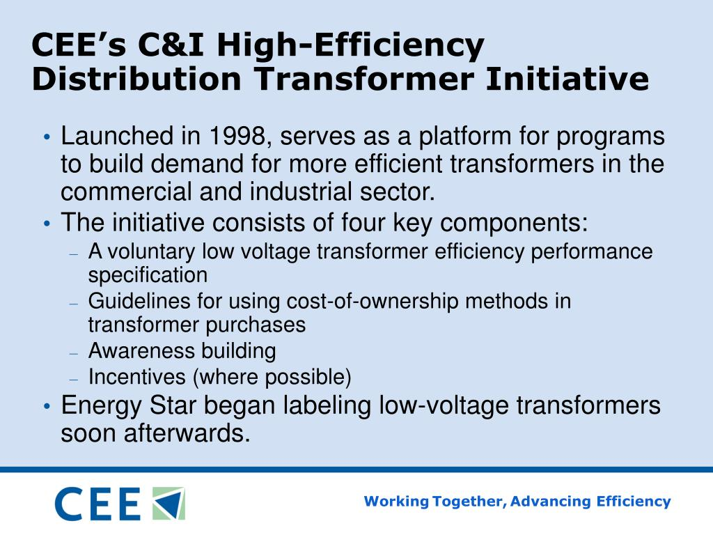 CEE's C&I High-Efficiency Distribution Transformer Initiative