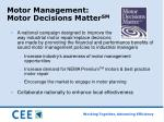 motor management motor decisions matter sm