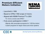 premium efficient motors initiative