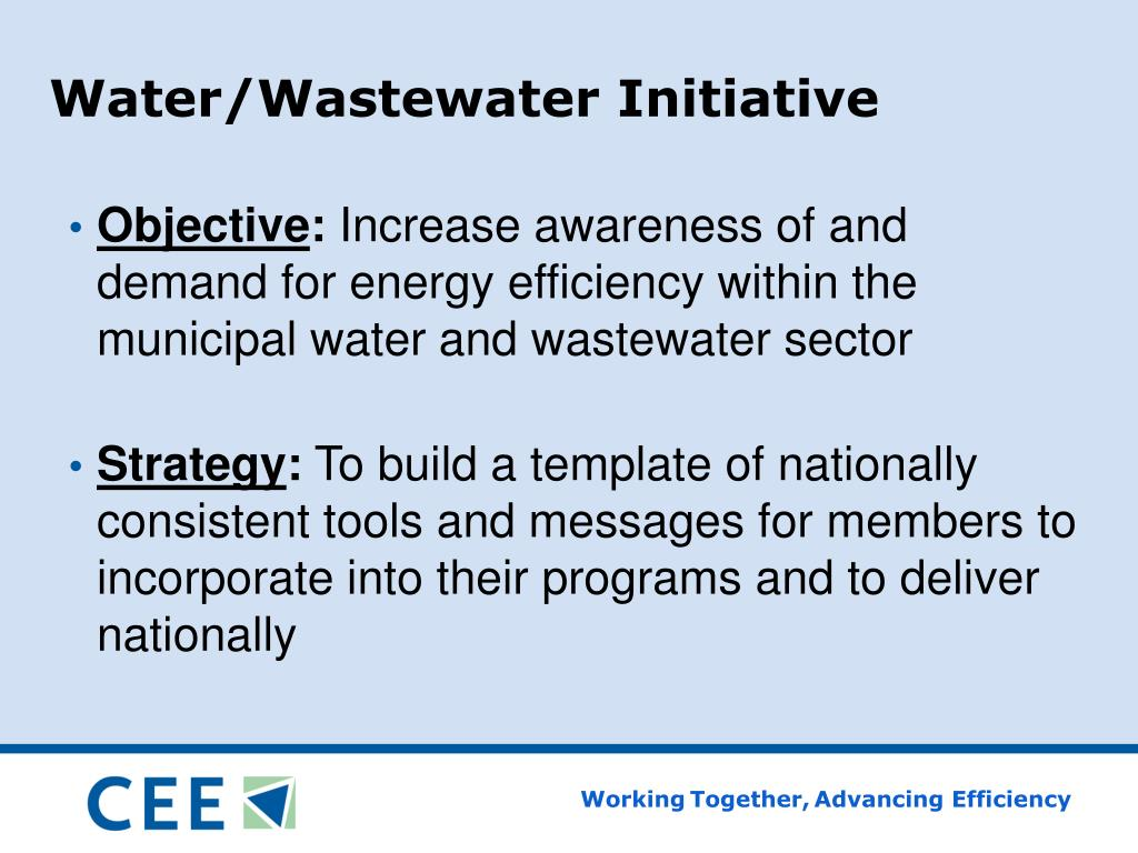 Water/Wastewater Initiative