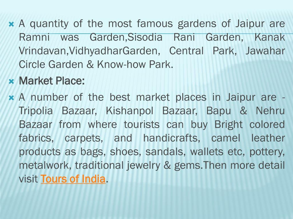 A quantity of the most famous gardens of Jaipur are