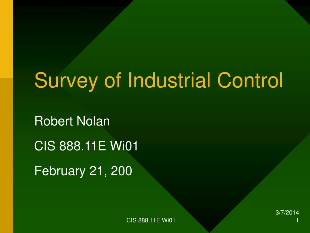 survey of industrial control l.