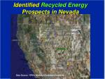 identified recycled energy prospects in nevada