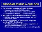program status outlook