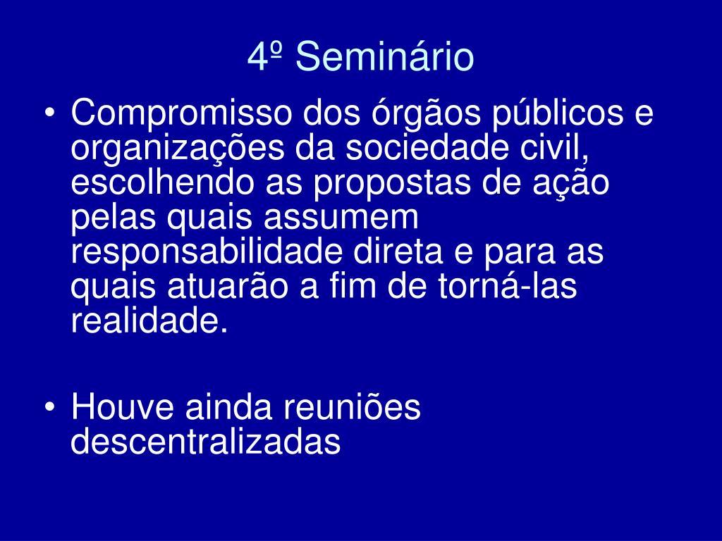 4º Seminário