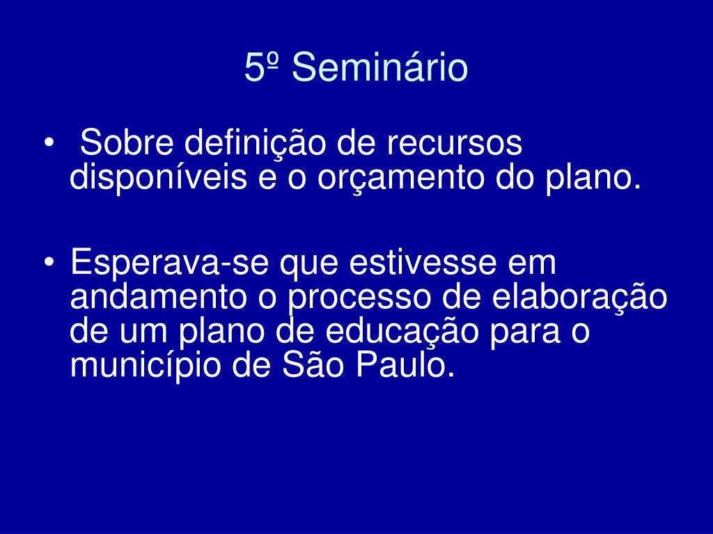5º Seminário