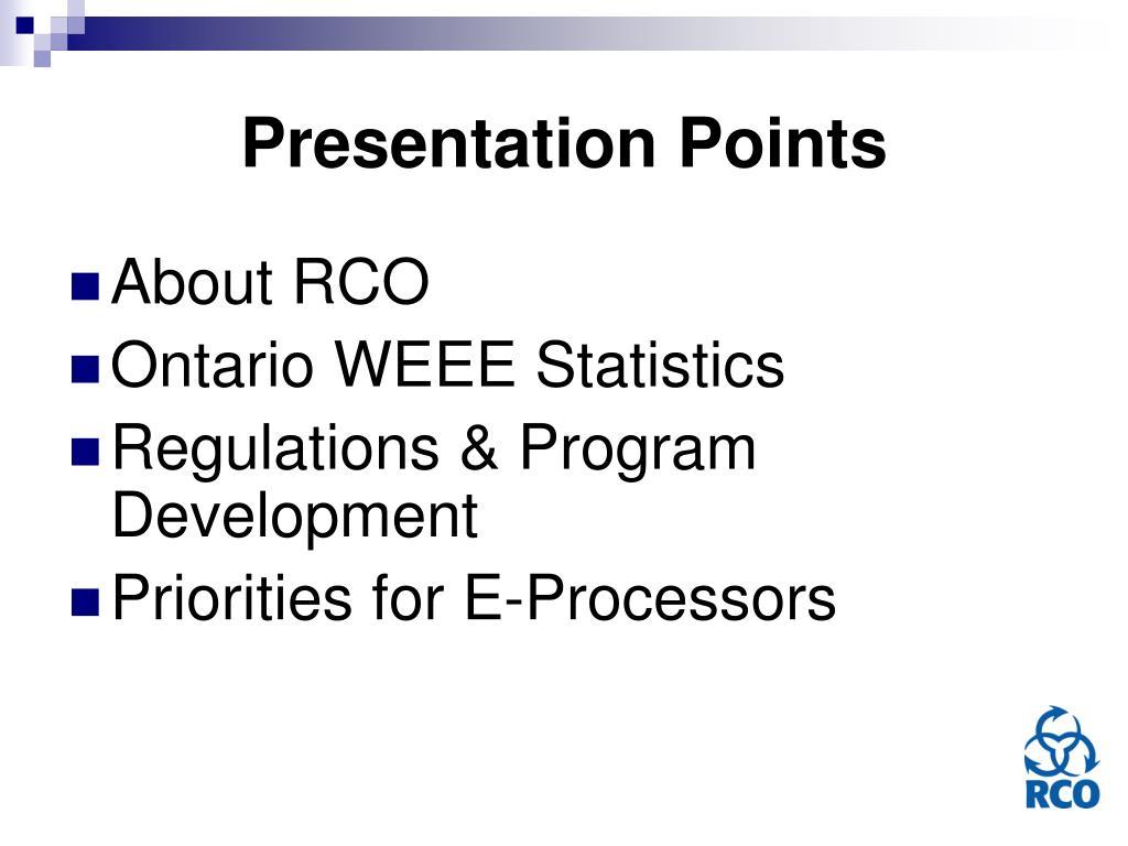 Presentation Points