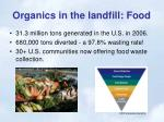 organics in the landfill food