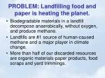 problem landfilling food and paper is heating the planet