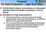 forecast eu steel production high tech steel