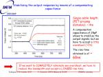stabilizing the output response by means of a compensating capacitance