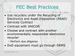 fec best practices