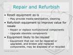 repair and refurbish