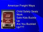 american freight ways