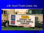 j b hunt truck lines inc