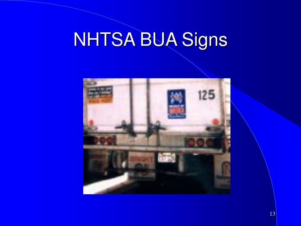 NHTSA BUA Signs