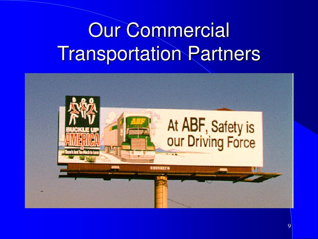 Our Commercial Transportation Partners