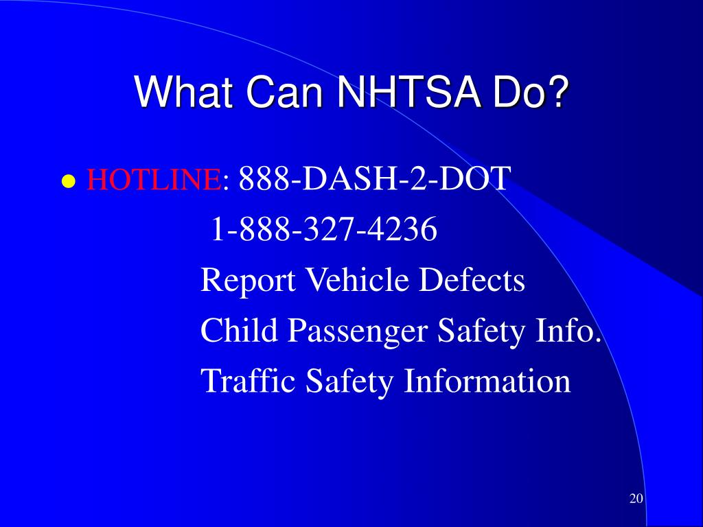 What Can NHTSA Do?