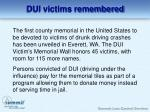dui victims remembered