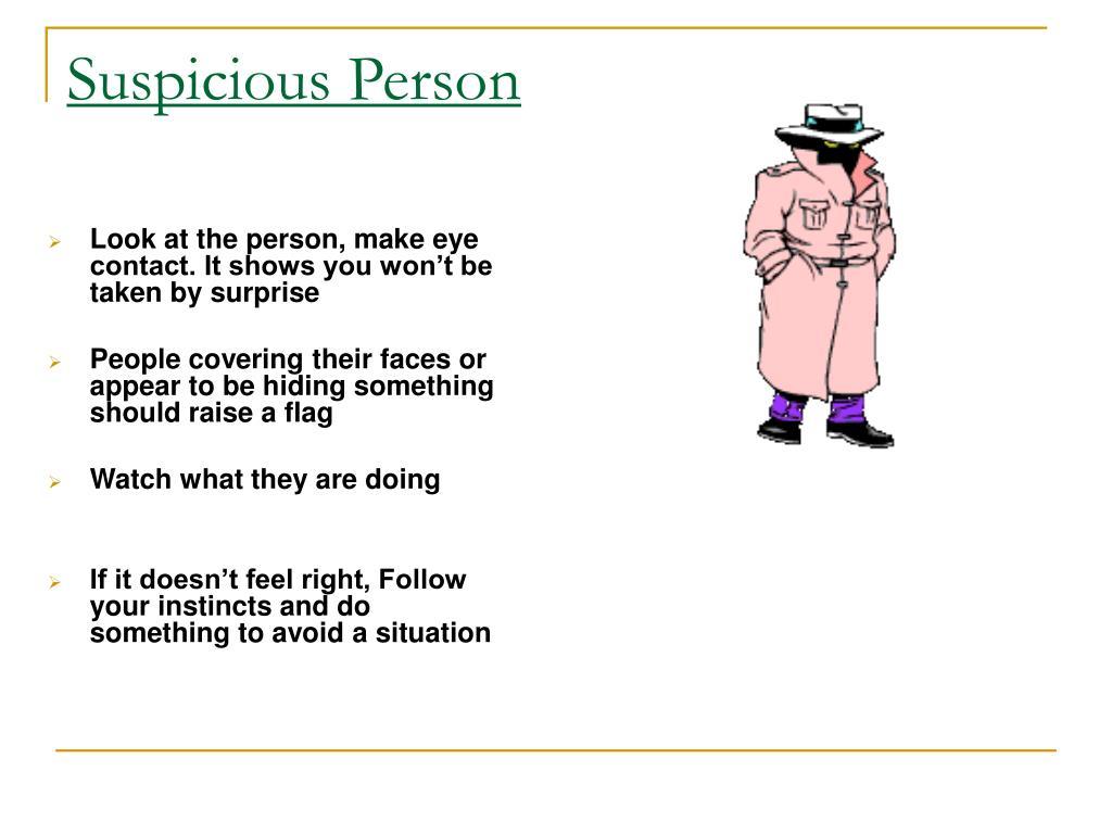 Suspicious Person