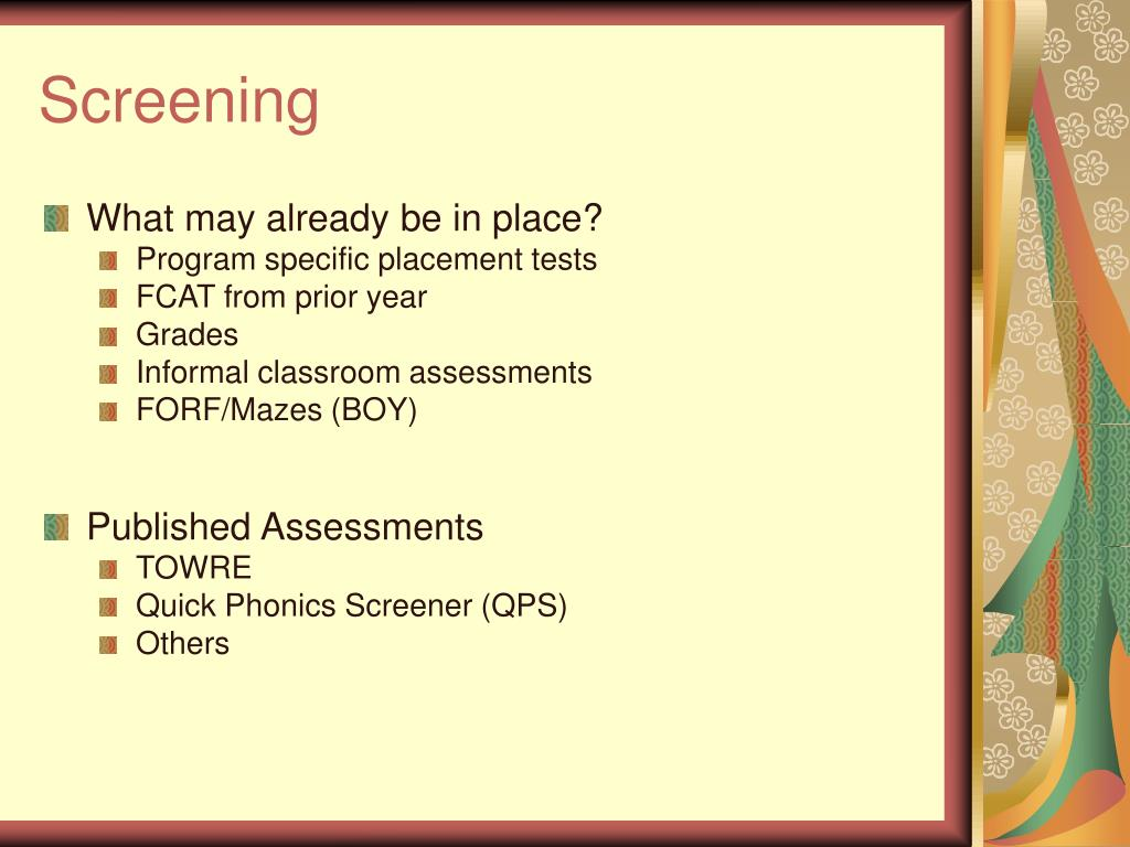 PPT - Secondary Assessments: Don't Let the Results Sit on the Shelf