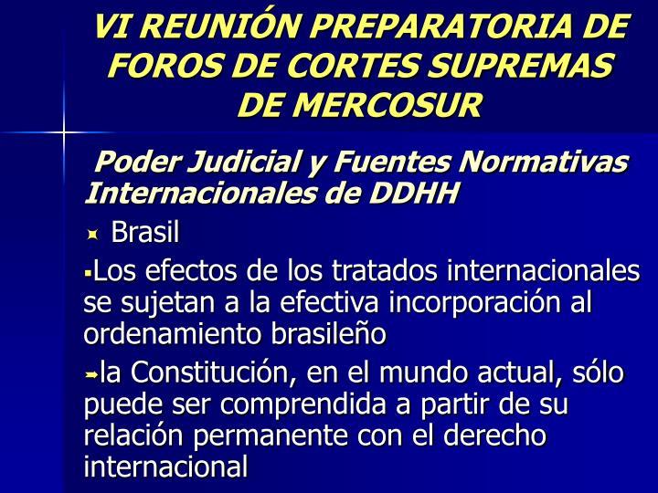 vi reuni n preparatoria de foros de cortes supremas de mercosur n.