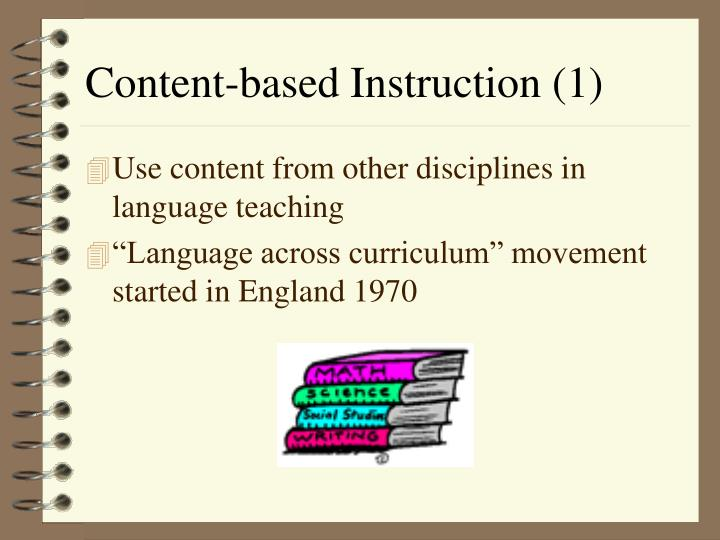 Content based instruction 1