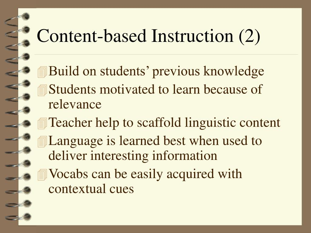 Content-based Instruction (2)