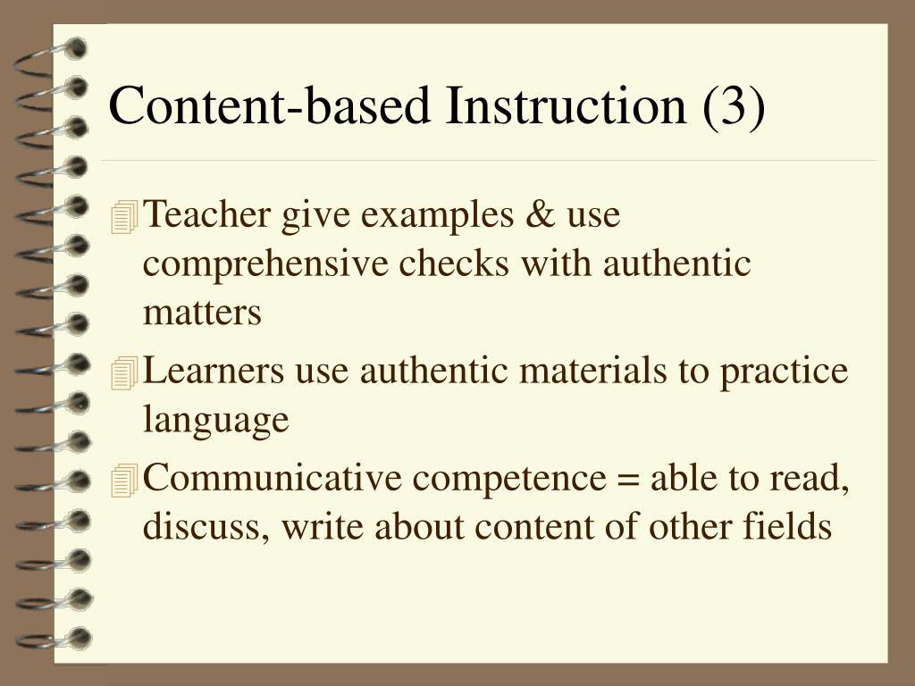 Content-based Instruction (3)
