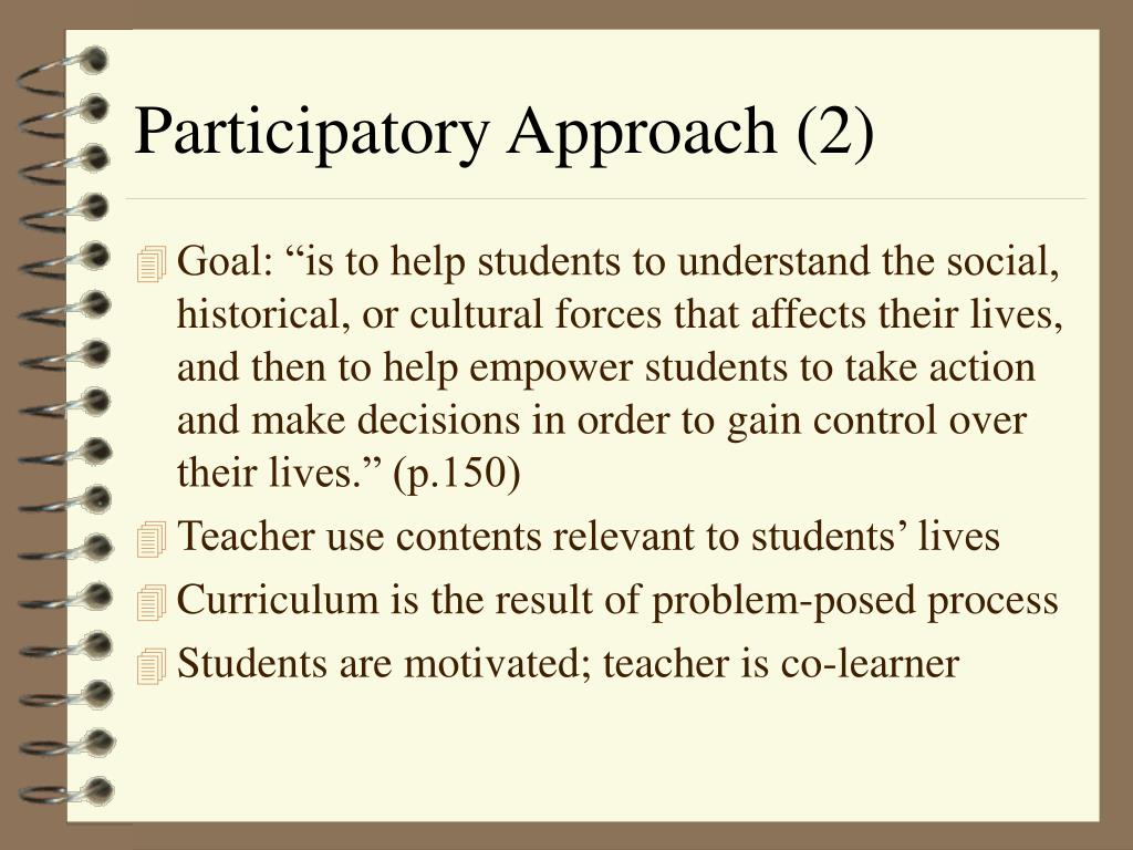 Participatory Approach (2)