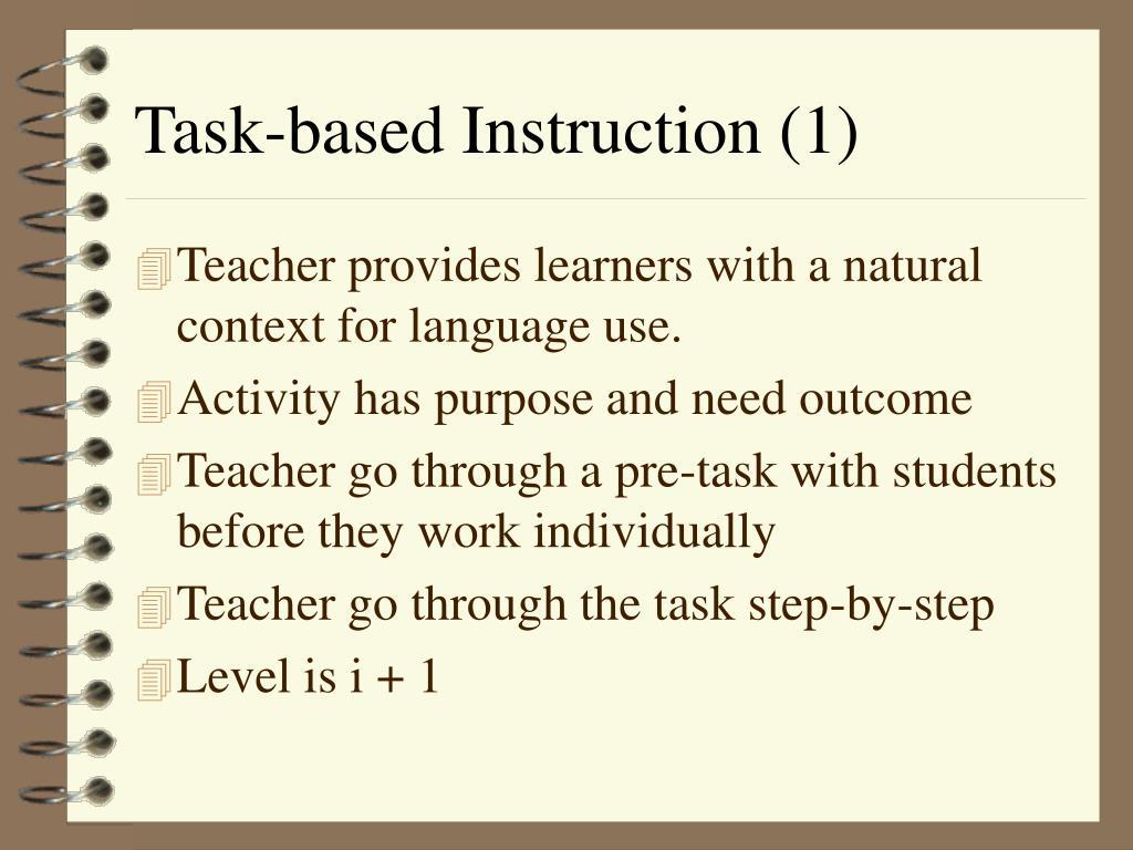 Task-based Instruction (1)