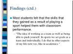 findings ctd12