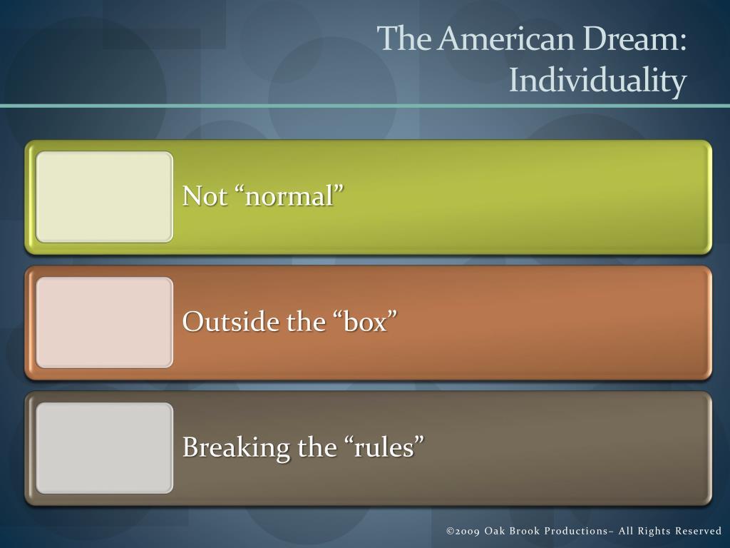 The American Dream: