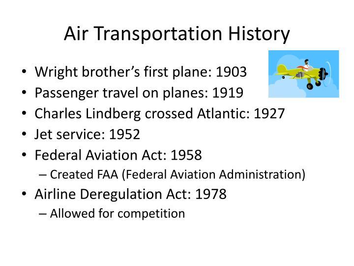 Air transportation history