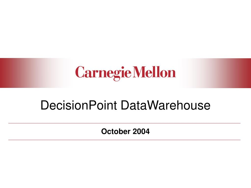 decisionpoint datawarehouse l.