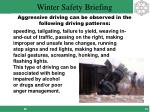 aggressive driving can be observed in the following driving patterns