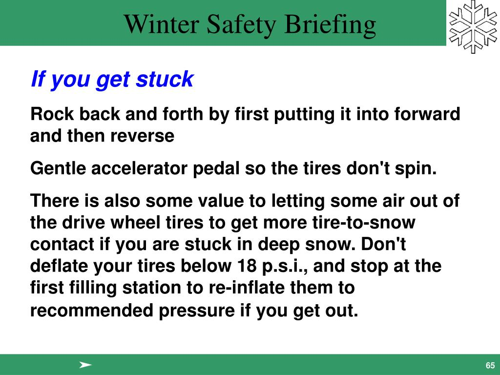 If you get stuck