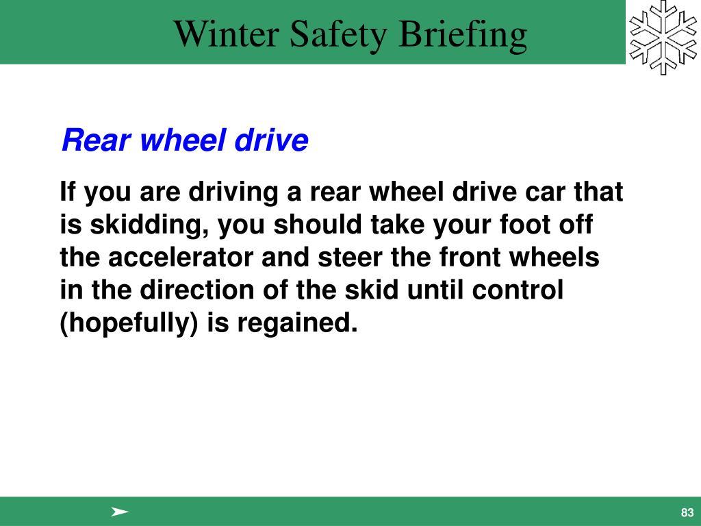 Rear wheel drive