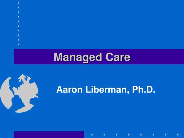 managed care n.